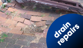 Collapsed drain in Cheshire